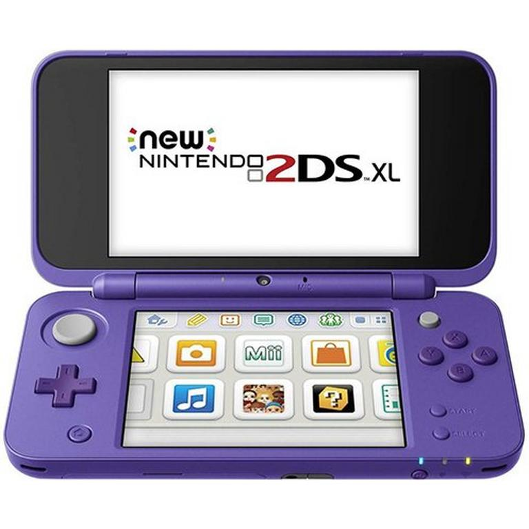 New Nintendo 2DS XL Purple System GameStop Refurbished