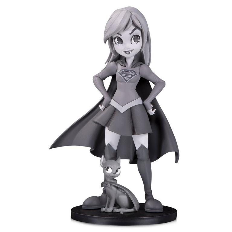 Supergirl by Chrissie Zullo Black and White DC Artists Alley Statue
