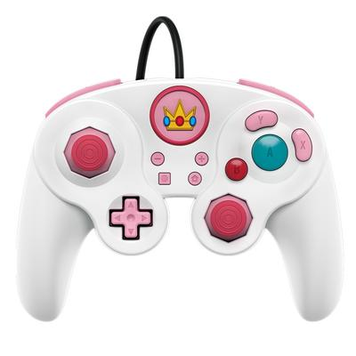Nintendo Switch Wired Fight Pad Pro Controller Princess Peach Edition