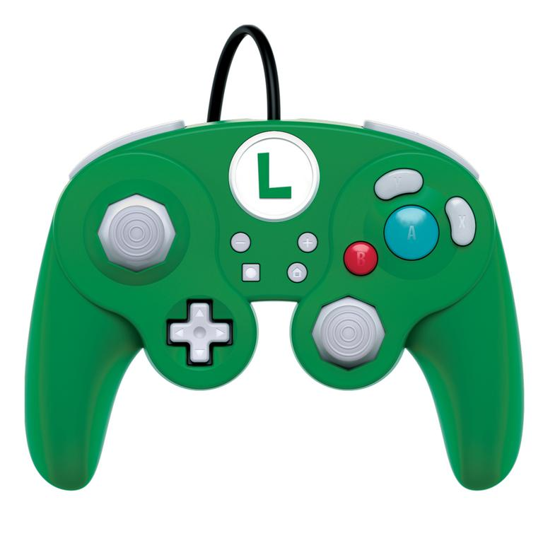 Super Smash Bros. Ultimate Luigi Edition Wired Fight Pad Pro Controller for Nintendo Switch