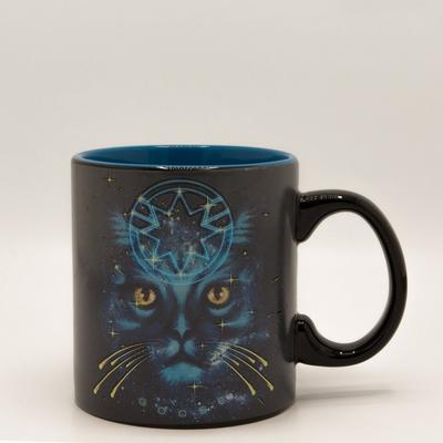Captain Marvel Cat Galaxy Mug