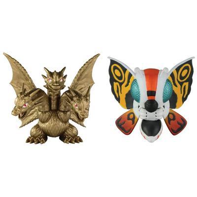 Godzilla: 2 Pack Classic 2 Inch Chibi Mothra '92 & King Ghidorah '91 Figures
