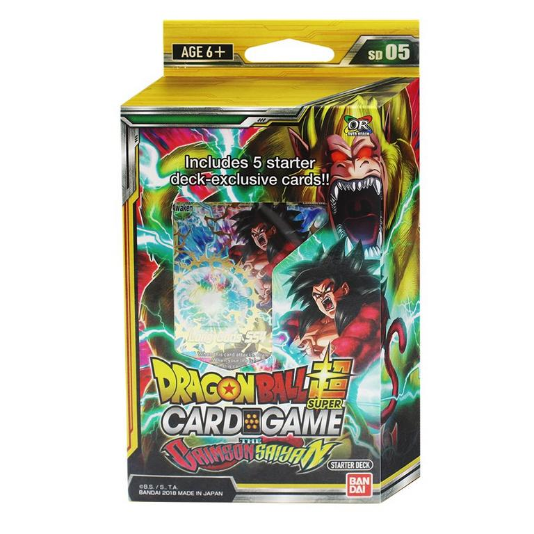 Dragon Ball Super Trading Card Game The Crimson Saiyan Booster Pack Starter Deck