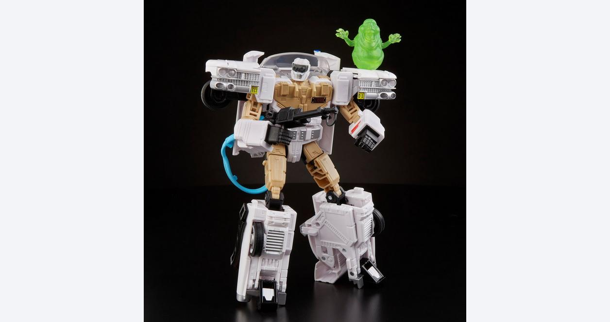 TRANSFORMERS COLLABORATIVE GHOSTBUSTERS ECTO-1 TRANSFORMERS ECTOTRON PRE SALE