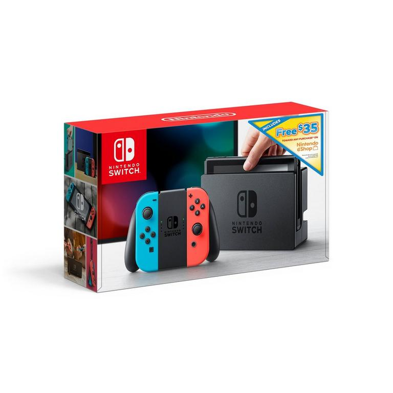 Nintendo Switch Console with Neon Blue and Red Joy-Con $35 eShop Bundle