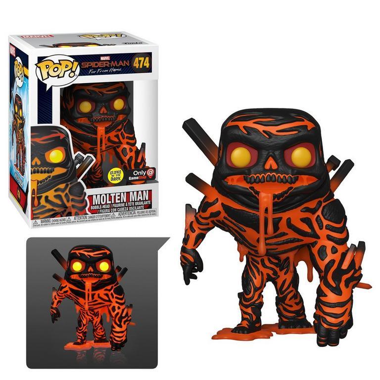 Funko POP! Marvel Spider-Man: Far From Home Molten Man Glow Only at GameStop