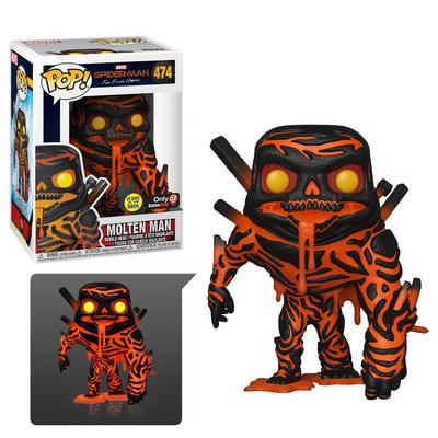 POP! Marvel Spider-Man: Far From Home Molten Man Glow Only at GameStop
