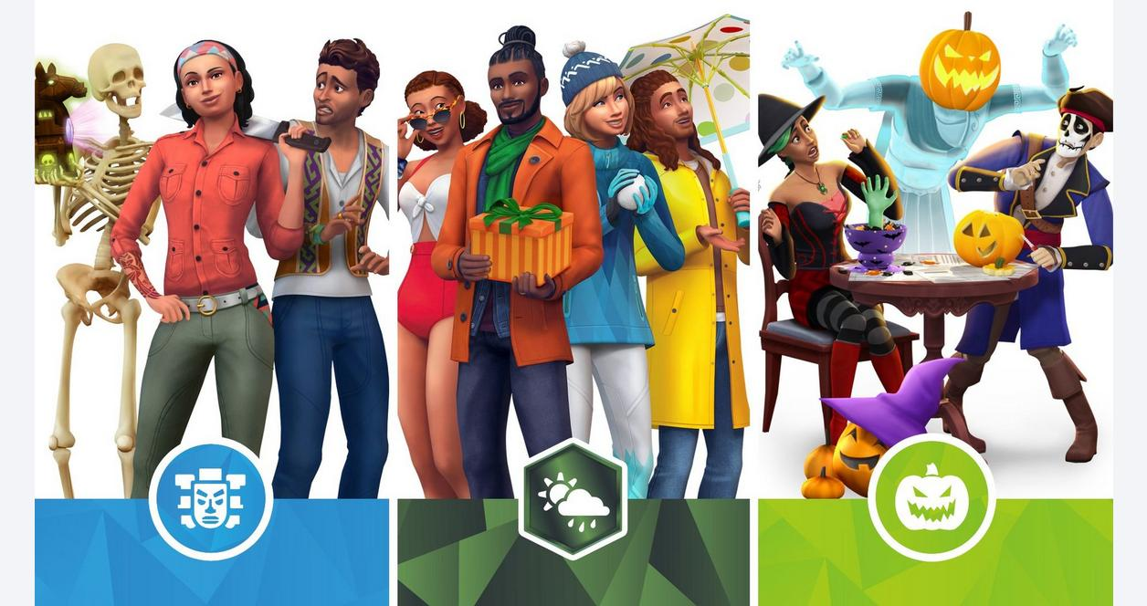 The Sims 4 Bundle - Seasons, Jungle Adventure, Spooky Stuff
