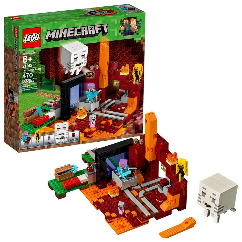 LEGO Minecraft 21143 The Nether Portal 470 Piece Building Toy   GameStop