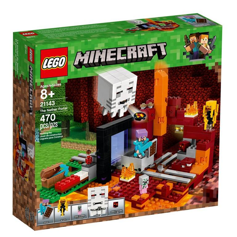 LEGO Minecraft 21143 The Nether Portal 470 Piece Building Toy