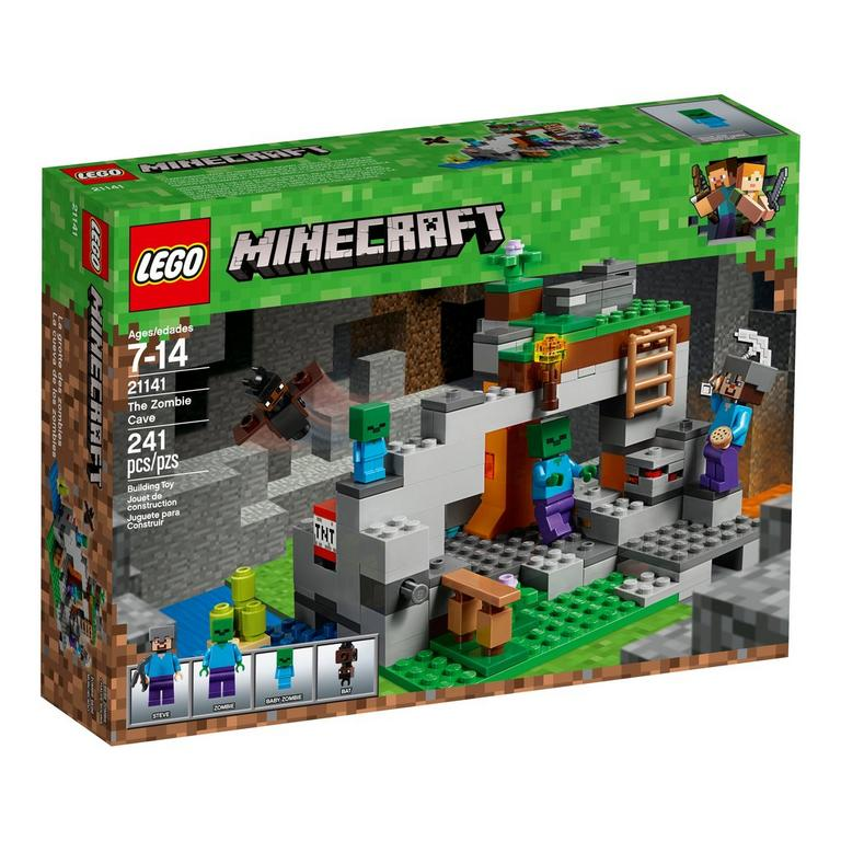 LEGO MInecraft 21141 The Zombie Cave 241 Piece Building Toy