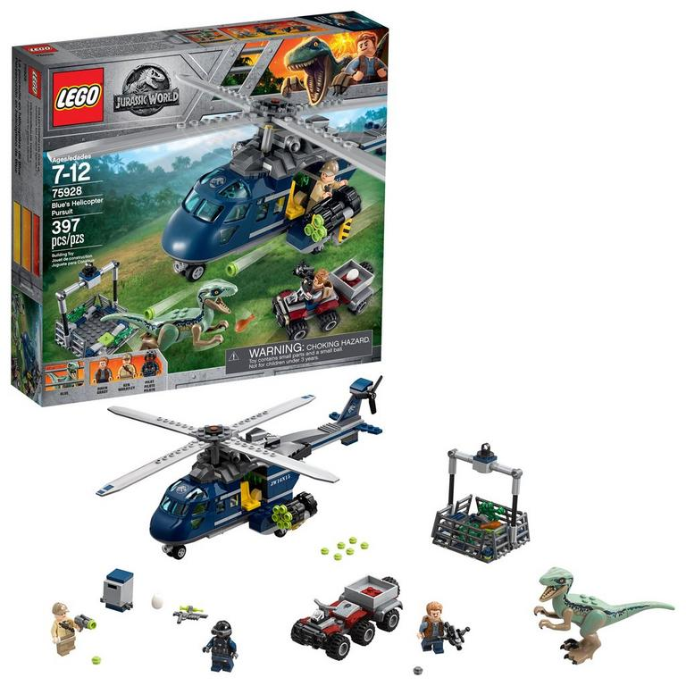 LEGO Jurassic World 75928 Blue's Helicopter Pursuit 397 Piece Building Toy
