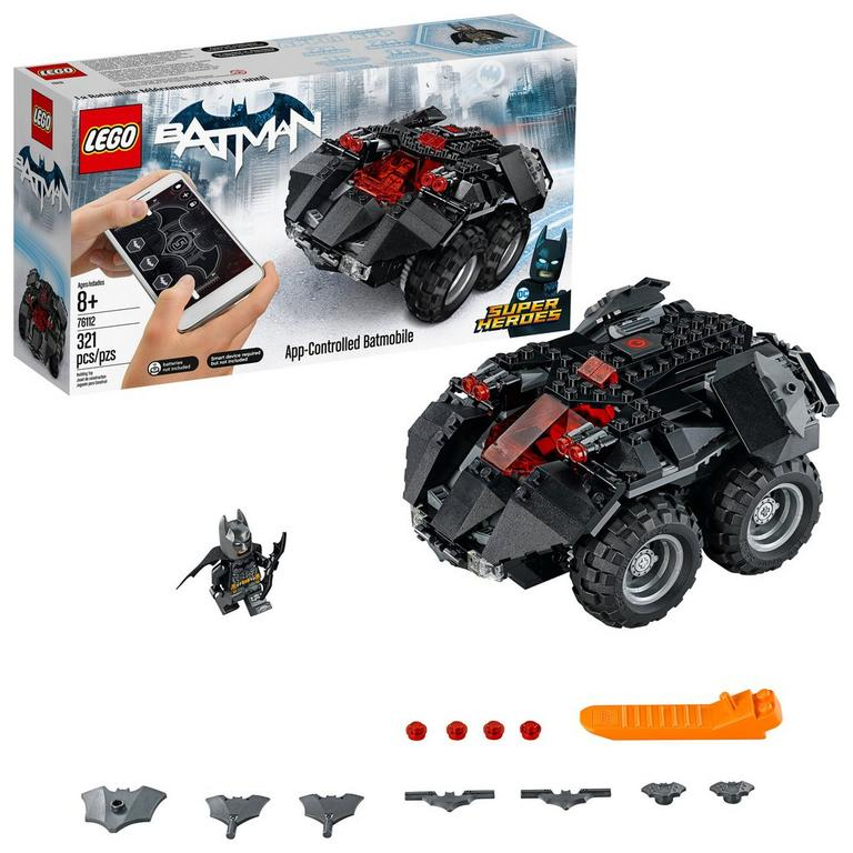 LEGO DC Super Heroes 76112 App-Controlled Batmobile 321 Piece Building Toy