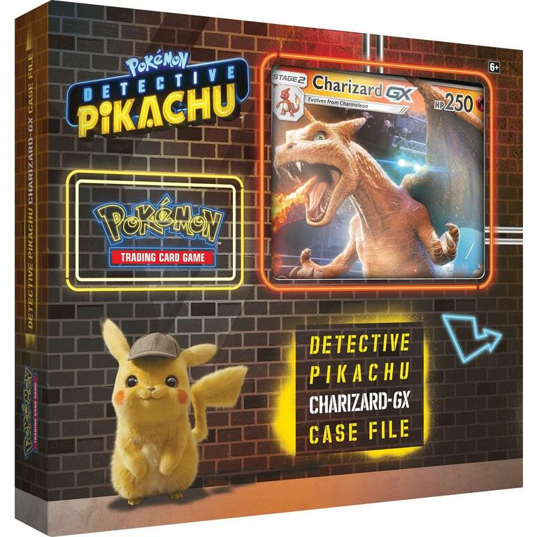 Pokemon: Detective Pikachu Charizard GX Case File with coin Trading Card Game