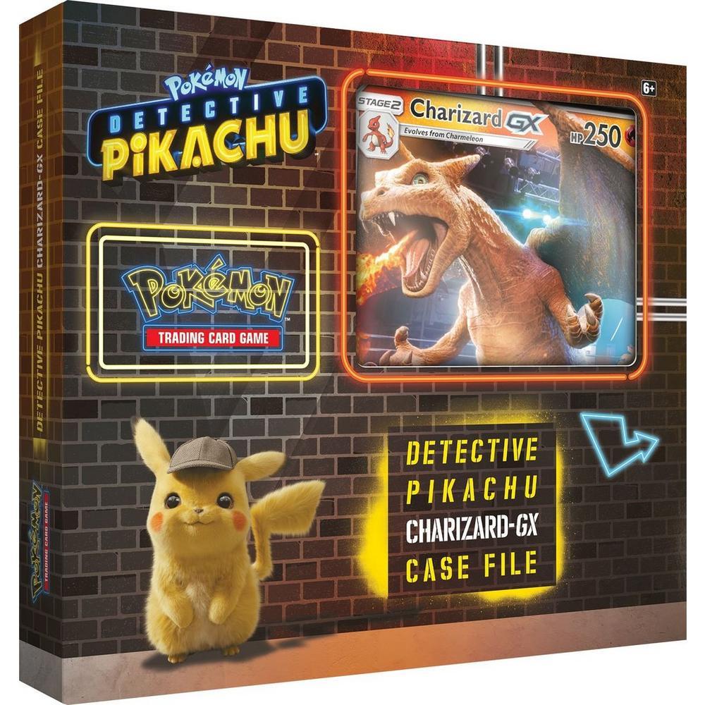 Pokemon Karten Gx Pikachu.Pokemon Detective Pikachu Charizard Gx Case File With Coin Trading Card Game Gamestop