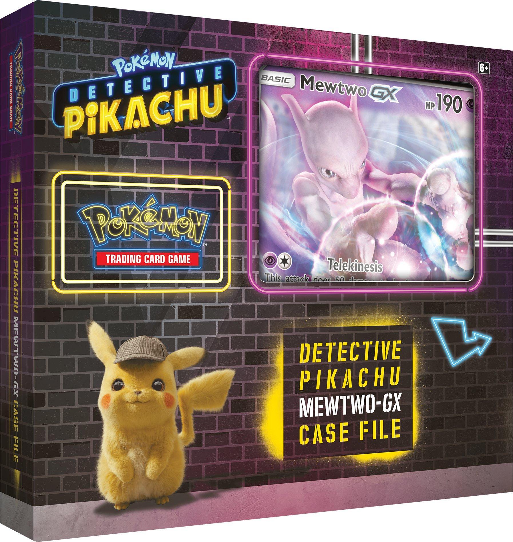 Pokemon Trading Card Game Detective Pikachu Mewtwo Gx Case
