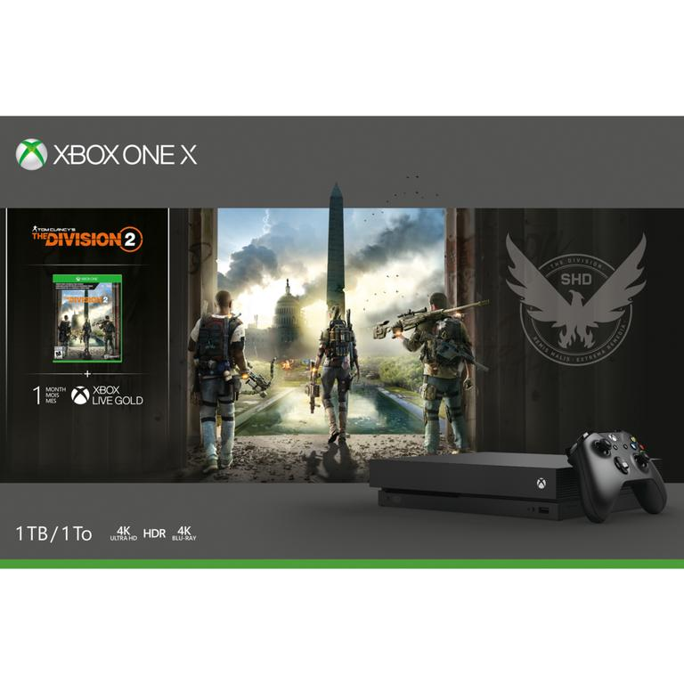 Microsoft Xbox One X Tom Clancys The Division 2 Bundle 1TB Available At GameStop Now!
