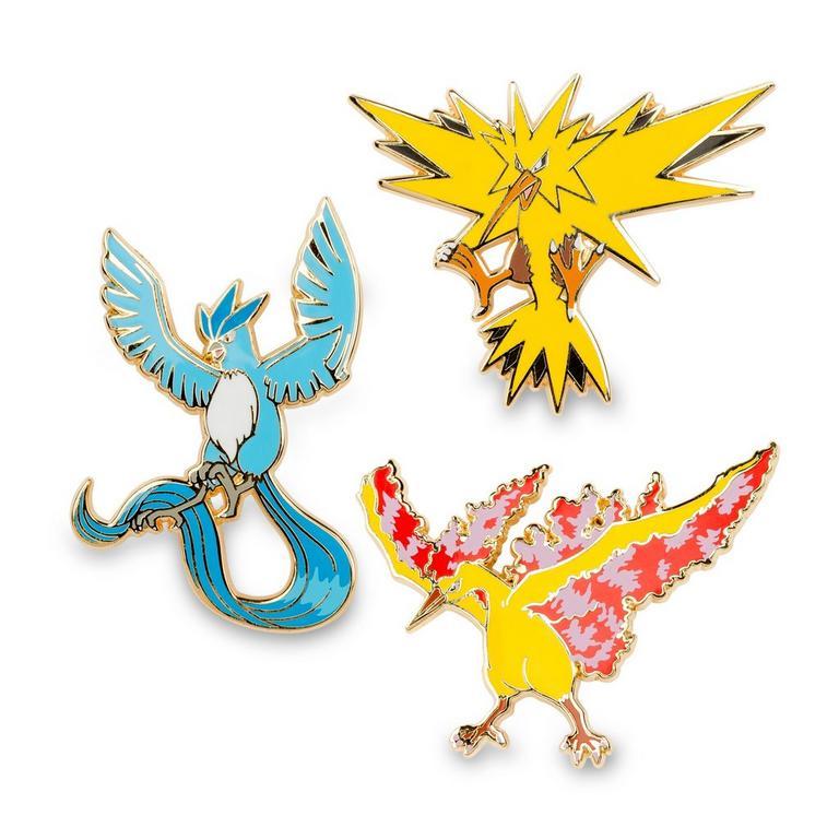 Pokemon Articuno Zapado Moltres Pins 3 Pack