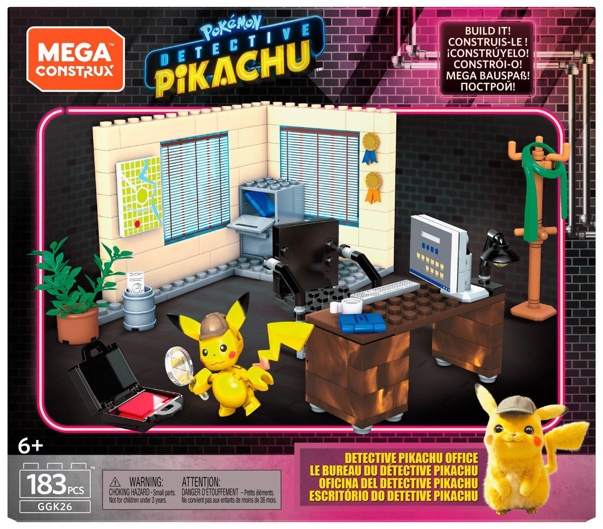 Pokemon Detective Pikachu Office Mega Construx Gamestop