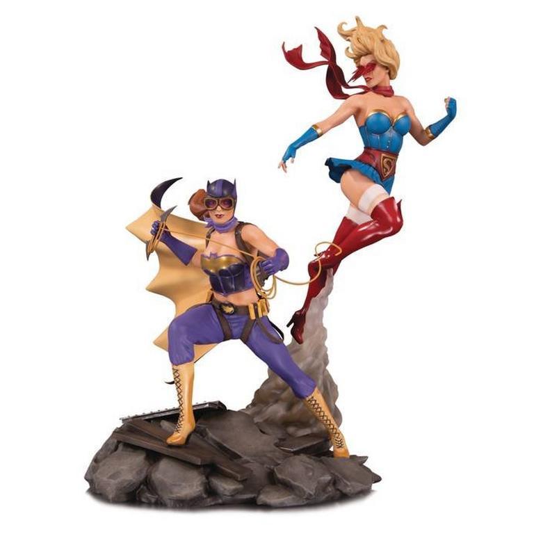 Batgirl and Supergirl DC Bombshells Celebration Statue