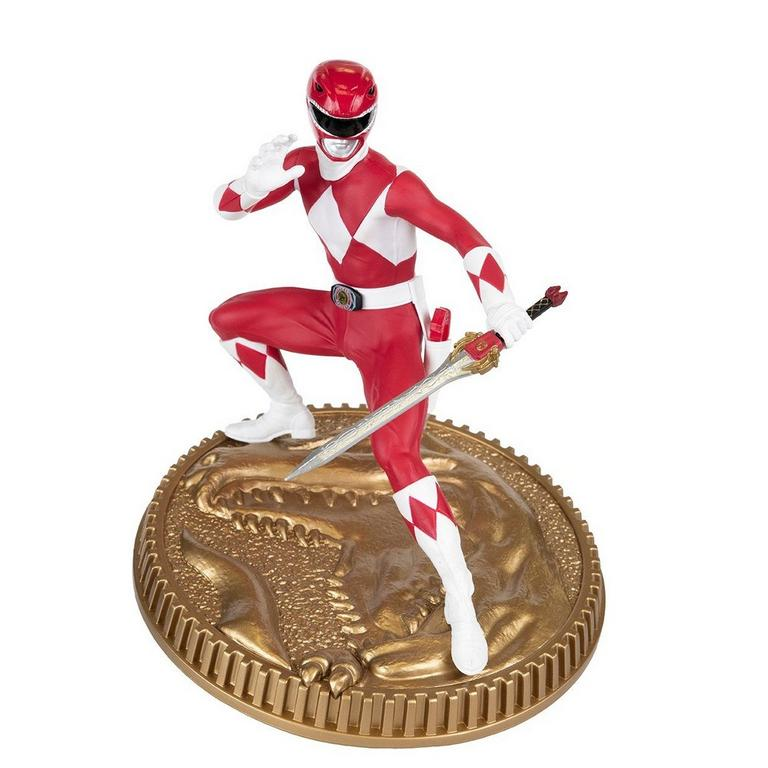Mighty Morphin Power Rangers Red Ranger Statue Only at GameStop