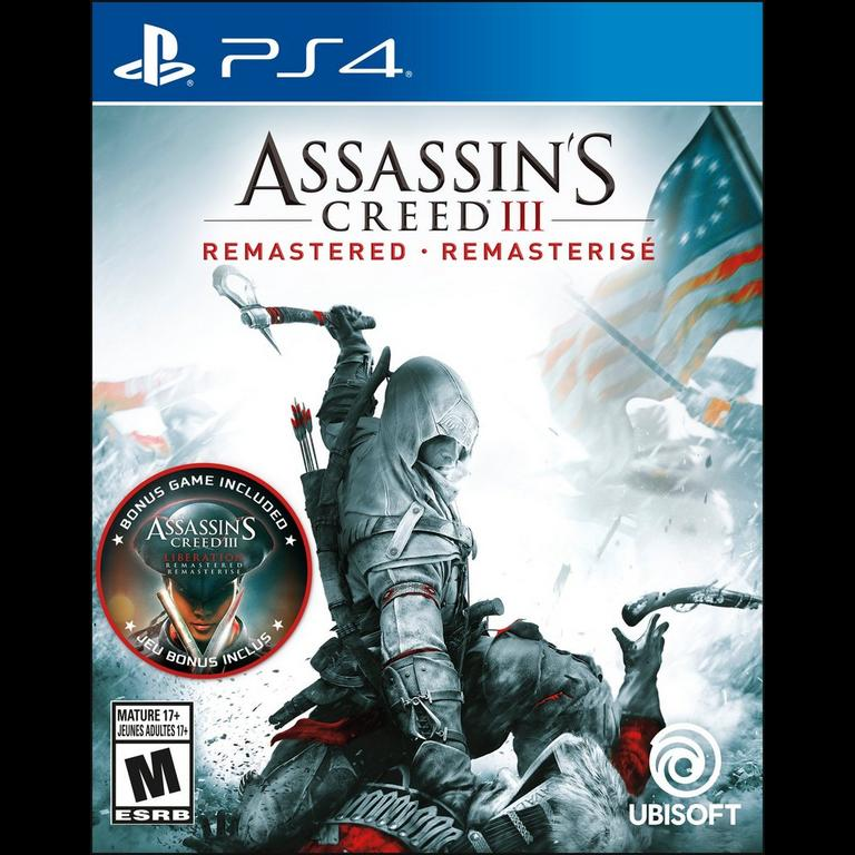 Assassin's creed 3 remastered - ps4-cover game