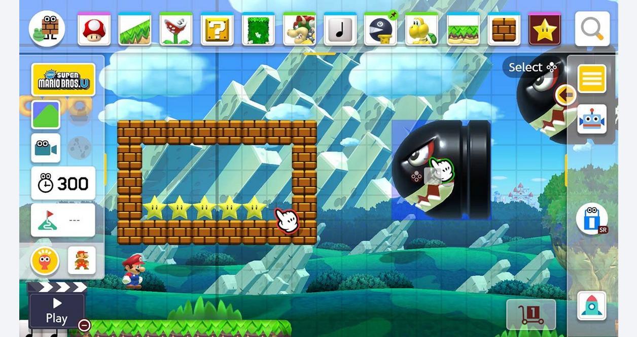 Super Mario Maker 2 with 12-Month Membership Bundle