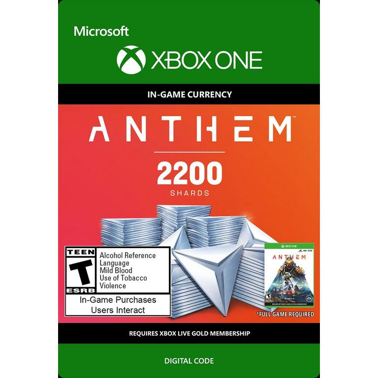 Anthem 2,200 Shards Pack