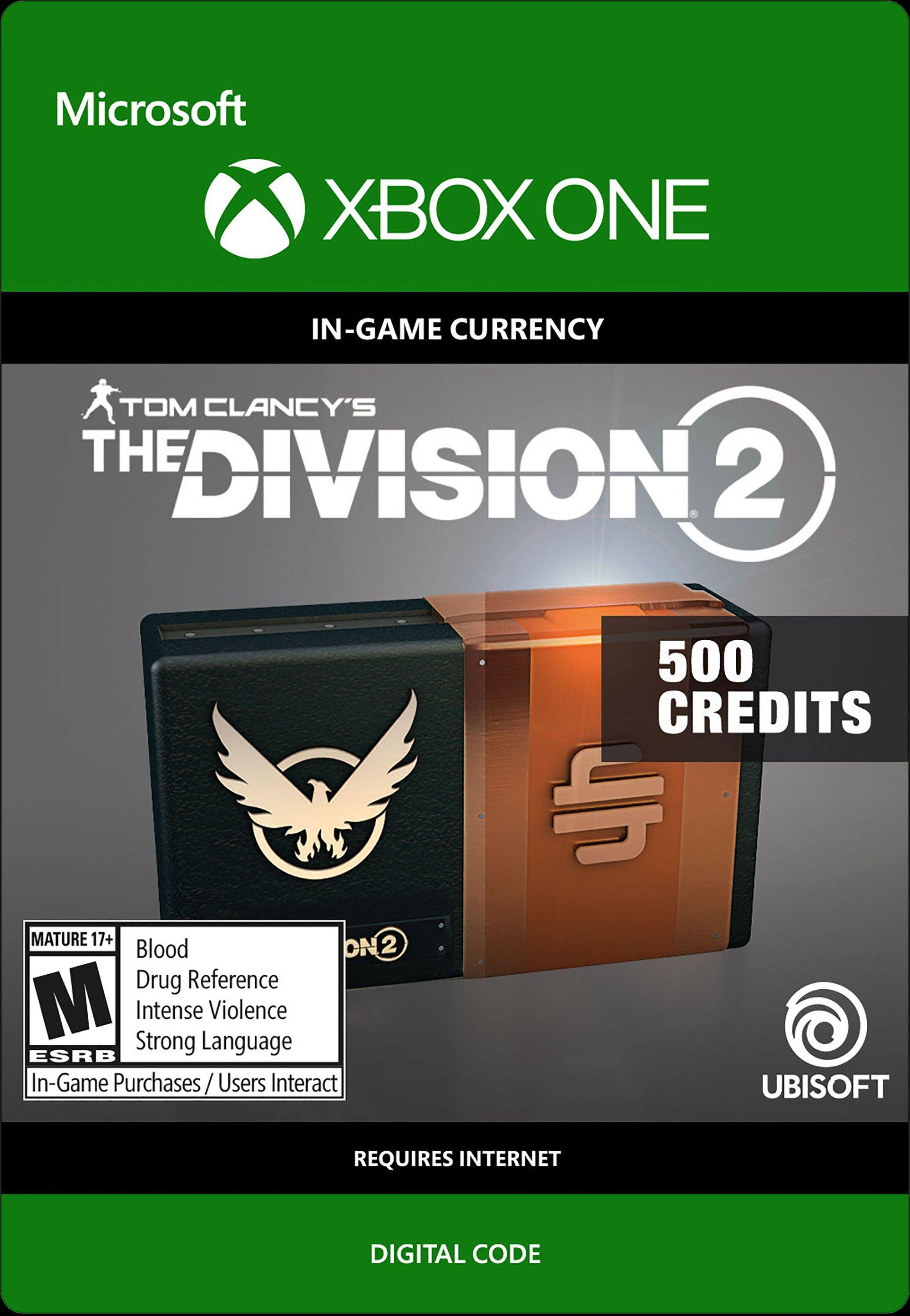 Tom Clancy S The Division 2 500 Credits Xbox One Gamestop