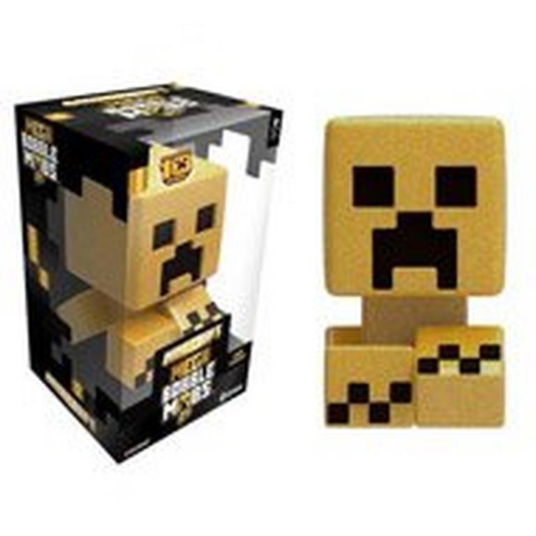 Minecraft 10 Year Anniversary Mega Bobble Mob Gold Creeper Figure
