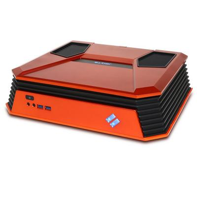 CyberPowerPC Syber C SCCO100 Orange Mini ITX Gaming Case