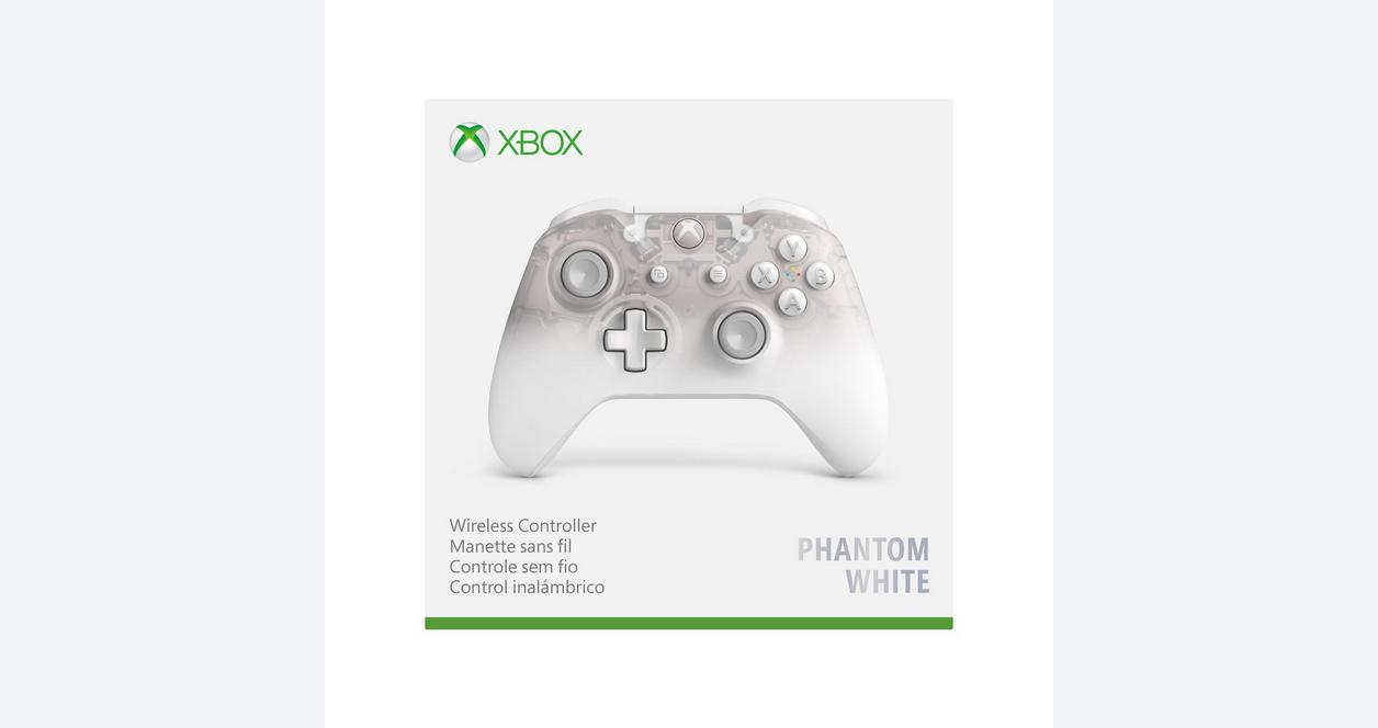 Microsoft Xbox One Phantom White Wireless Controller