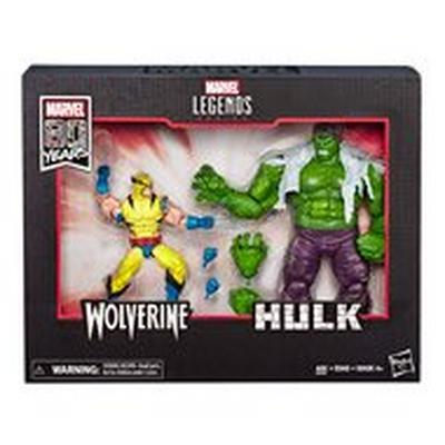 Marvel Legends 80th Anniversary Hulk VS. Wolverine Action Figure 2 Pack