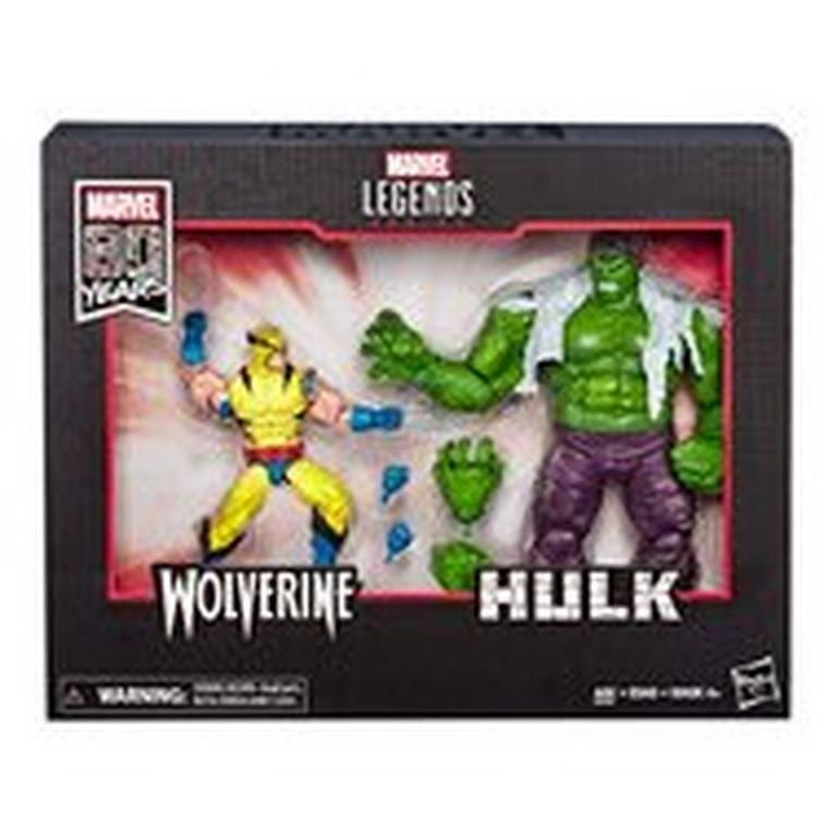 Marvel Legends Series 80th Anniversary Hulk VS. Wolverine Action Figure 2 Pack