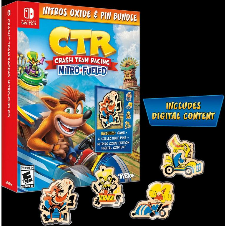 Crash Team Racing Nitro-Fueled Nitros Oxide and Pin Bundle Only at GameStop