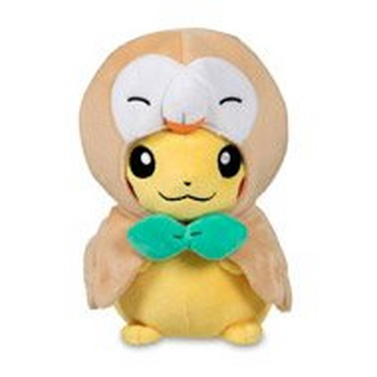 Pokemon Pikachu Rowlet Cape Plush