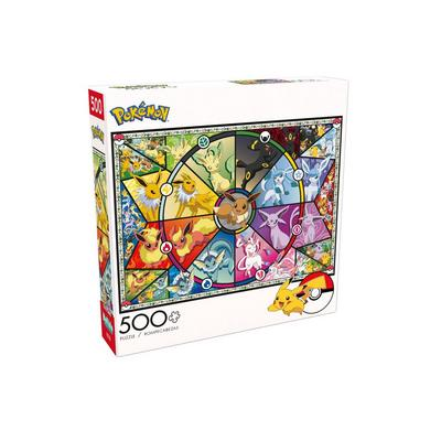 Pokemon: Eevee Stained Glass 500pc Puzzle
