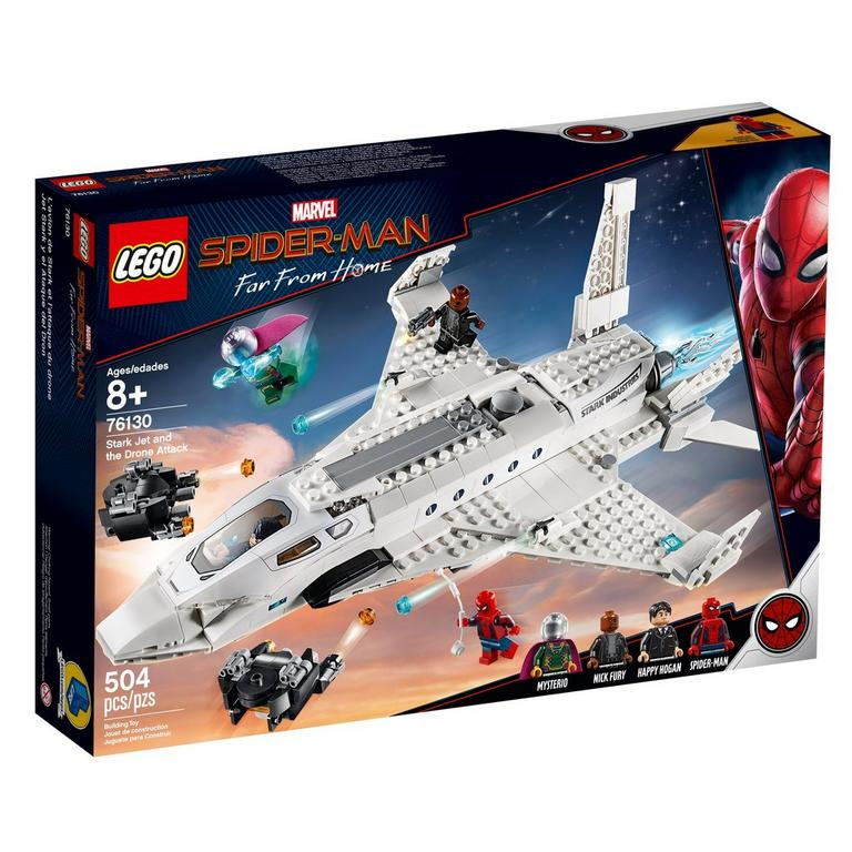 LEGO Marvel Spider-Man Far From Home Stark Jet and the Drone Attack 76130