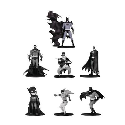 Batman Black and White Set 4 Mini Statue 7 Pack