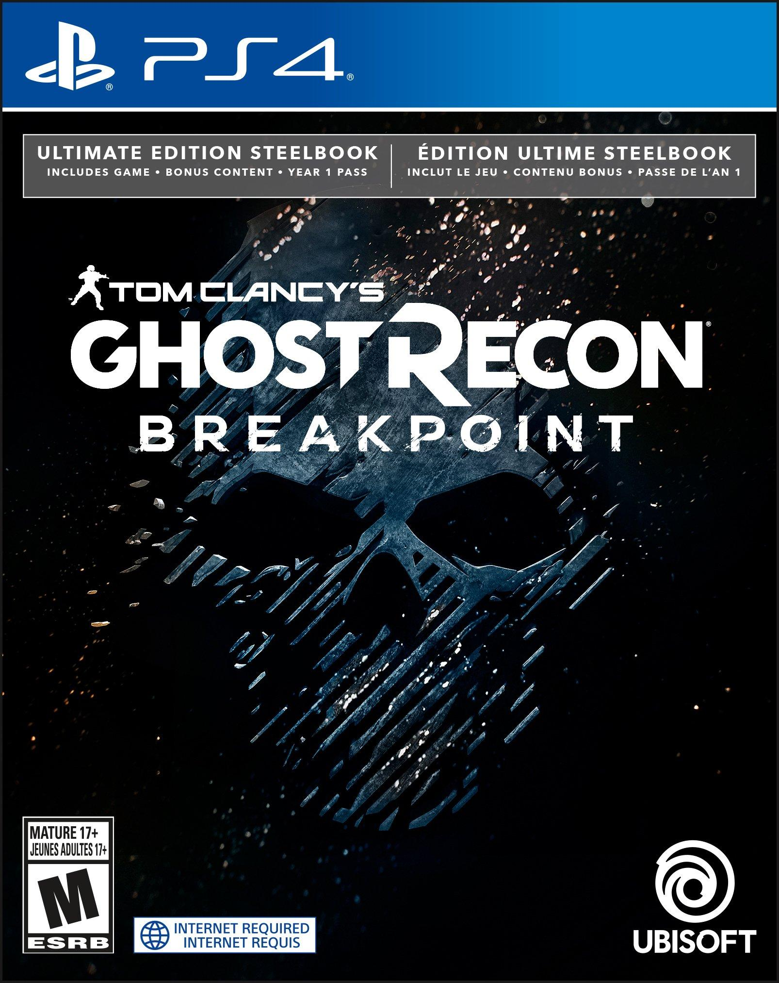 Tom Clancy S Ghost Recon Breakpoint Steelbook Ultimate Edition Only At Gamestop Playstation 4 Gamestop