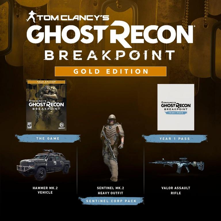 Tom Clancy's Ghost Recon Breakpoint Steelbook Gold Edition