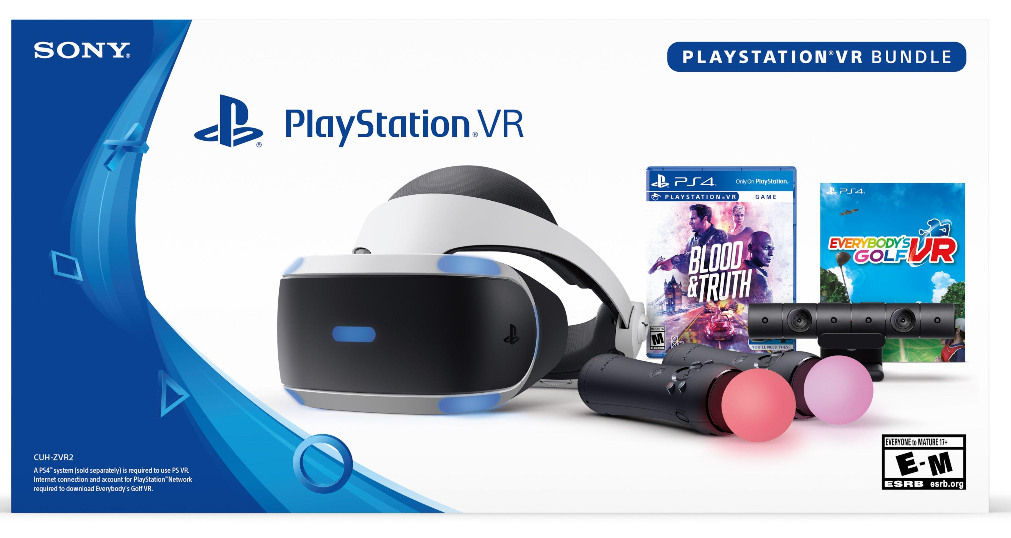Playstation Vr Blood And Truth And Everybody Golf Vr Bundle Playstation 4 Gamestop