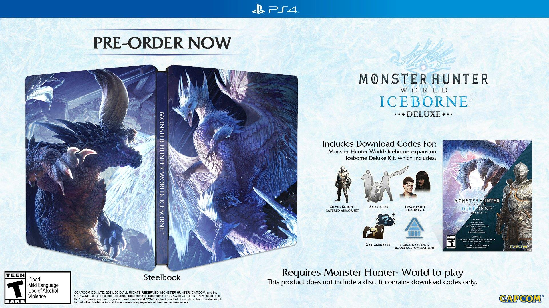 Monster Hunter: World Iceborne Deluxe Edition Only at GameStop    PlayStation 4   GameStop