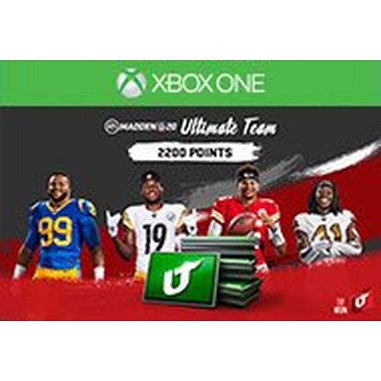 Madden NFL 20 2200 Ultimate Team Points Digital Card
