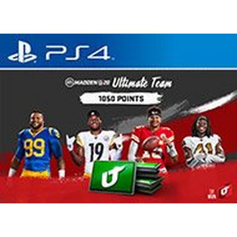 Madden NFL 20 1050 Ultimate Team Points Digital Card