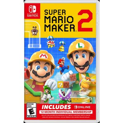 Super Mario Maker 2 with 12-Month Membership Bundle