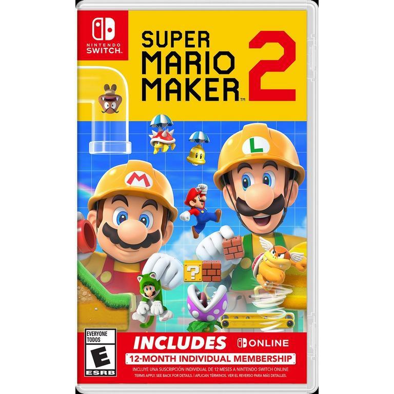 Super Mario Maker 2 with 12-Month Membership Bundle | Nintendo Switch |  GameStop