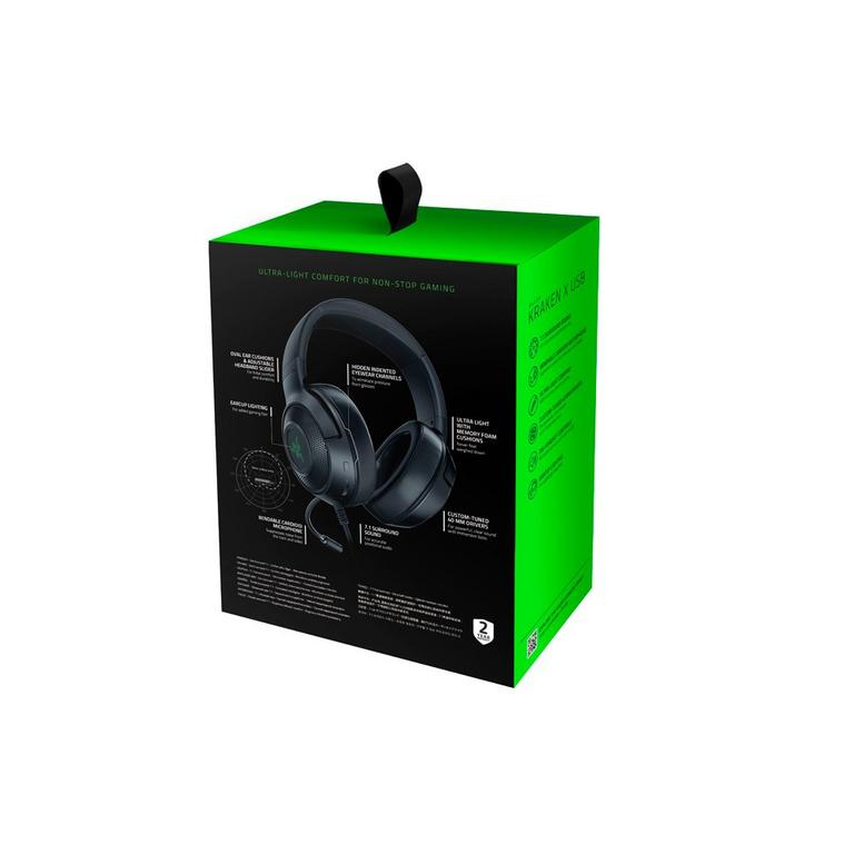 Kraken X Black Wired Gaming Headset