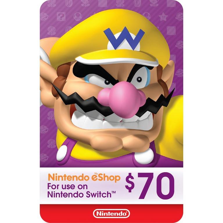 Nintendo eShop $70