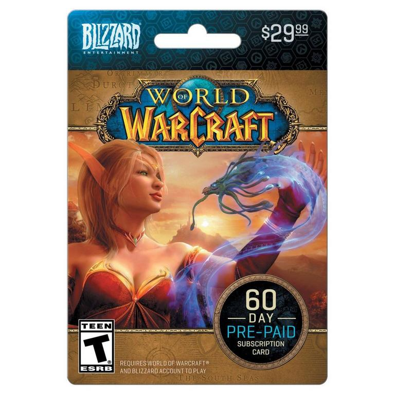 Blizzard World of Warcraft 60 Day Time Card